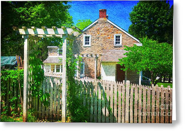 Stone House Greeting Cards - Country Garden Greeting Card by Paul Ward