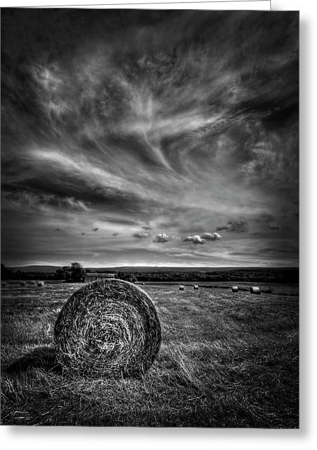 Hay Bales Photographs Greeting Cards - Country High Greeting Card by Evelina Kremsdorf