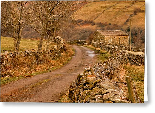 Country Lane Yorkshire Dales Greeting Card by Trevor Kersley