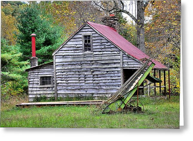 Red Roofed Barn Greeting Cards - Country Life Greeting Card by Todd Hostetter