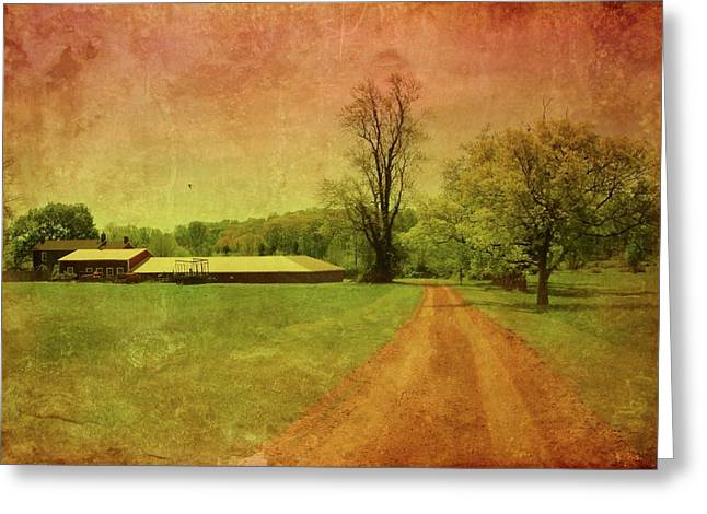 Country Framed Prints Greeting Cards - Country Living - Bayonet Farm Greeting Card by Angie Tirado