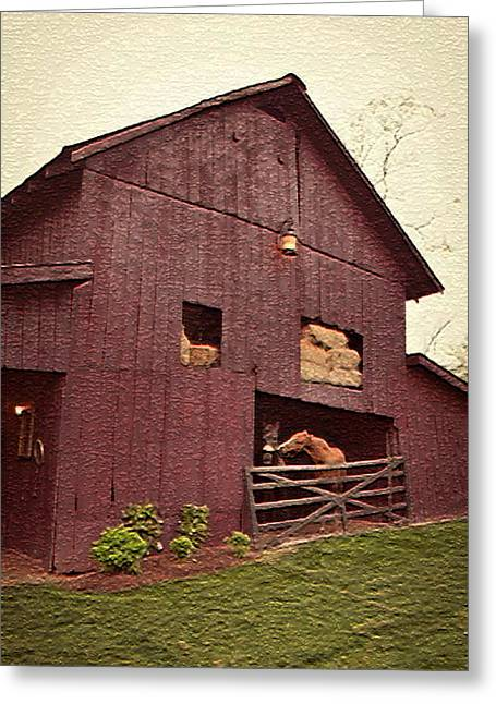 Country Living Greeting Card by De Beall