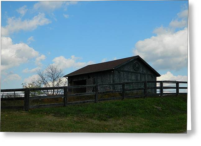 Barn Yard Greeting Cards - Country Living Greeting Card by William Kersey