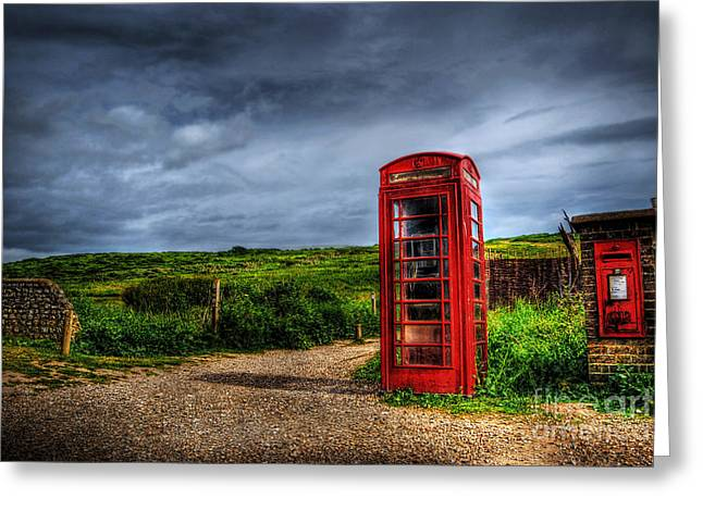 Royal Art Greeting Cards - Country Phone Box Greeting Card by Yhun Suarez