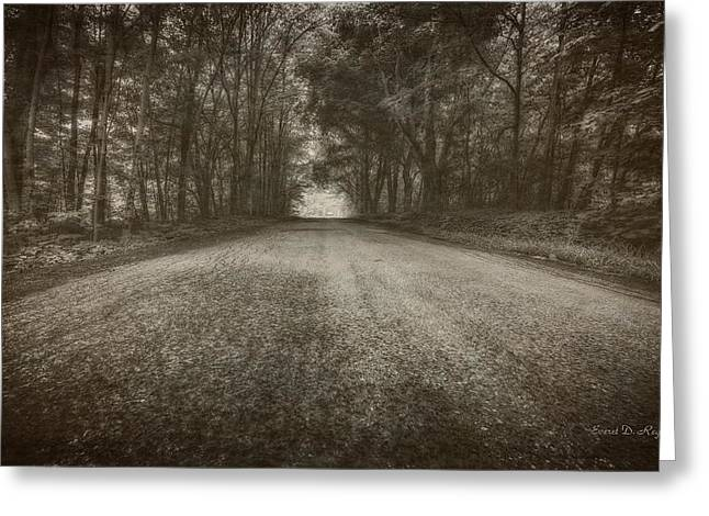 Country Greeting Cards - Country Road Greeting Card by Everet Regal