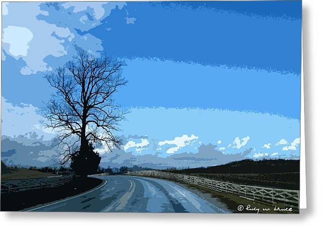 French Lick Indiana Greeting Cards - Country Road Greeting Card by Lucy Bruce