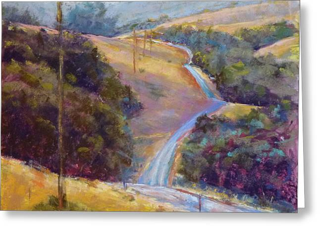 Morro Bay Ca Greeting Cards - Country Road Greeting Card by Sam Pearson