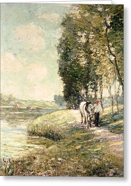 Country Road. Rural Greeting Cards - Country Road to Spuyten Greeting Card by Ernest Lawson