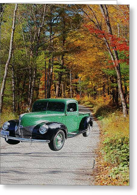 Old Country Roads Greeting Cards - Country Roads Greeting Card by Cheryl Young