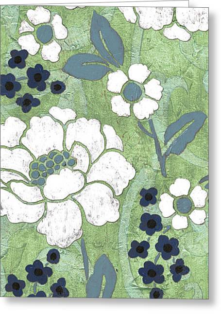 White Florals Greeting Cards - Country Spa Floral 2 Greeting Card by Debbie DeWitt