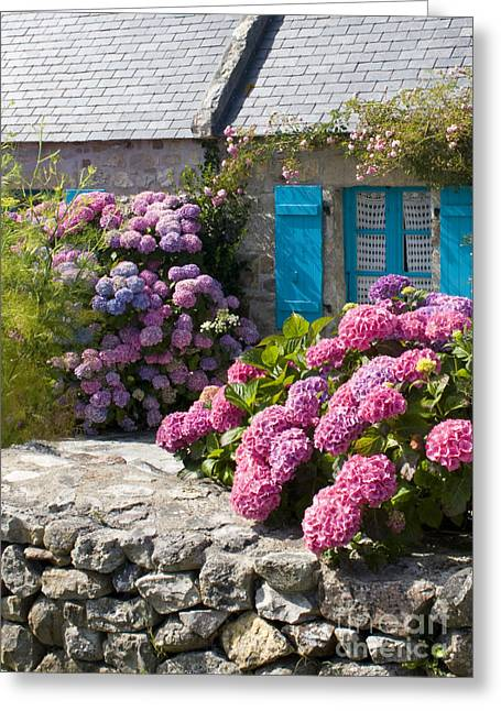 Stone House Greeting Cards - Country Style Greeting Card by Sophie De Roumanie