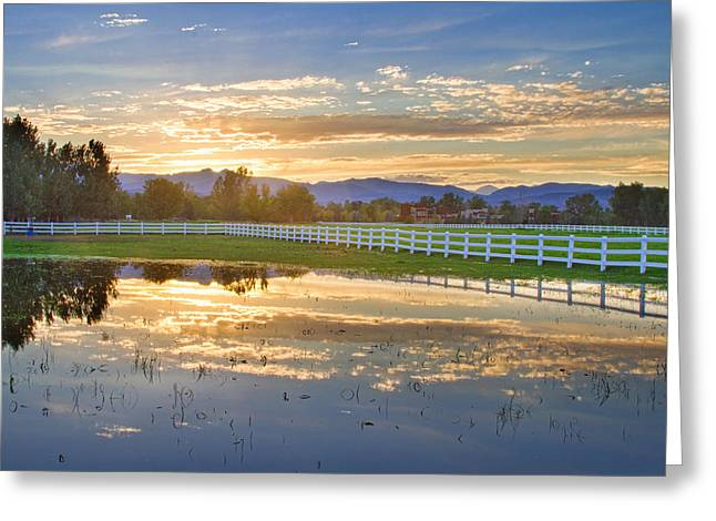 Country Sunset Reflection Greeting Card by James BO  Insogna