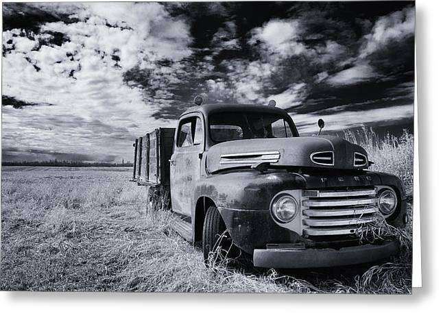 Pickup Truck Greeting Cards - Country truck Greeting Card by Ian MacDonald