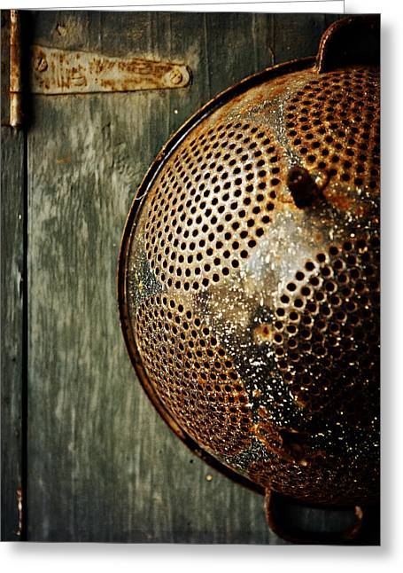 Colander Greeting Cards - Country Vignette Greeting Card by Lisa Russo