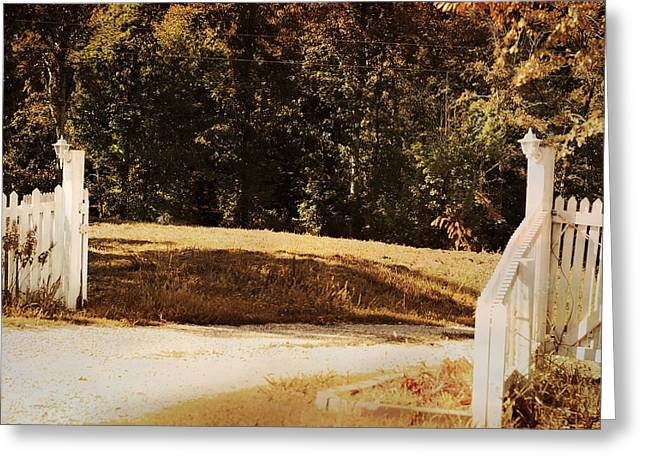 Country Welcome Landscape Greeting Card by Jai Johnson
