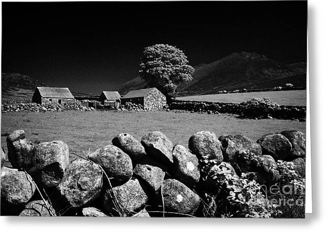 Outbuildings Greeting Cards - Countryside Beneath Slieve Binnian In The Mourne Mountains Northern Ireland Greeting Card by Joe Fox