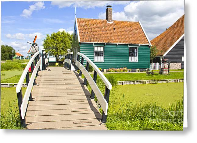 Zaans Greeting Cards - Countryside landscape in Holland Greeting Card by Giancarlo Liguori