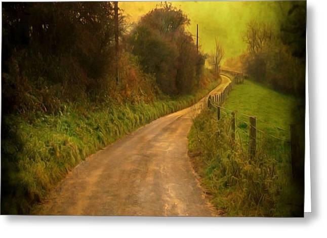 Countryside Road Greeting Card by Svetlana Sewell