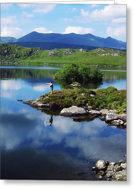 County Kerry, Ireland Fishing On Greeting Card by Sici