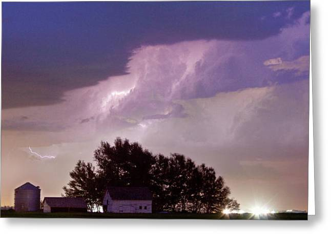 Ft Collins Greeting Cards - County Line Northern Colorado Lightning Storm Panorama Greeting Card by James BO  Insogna