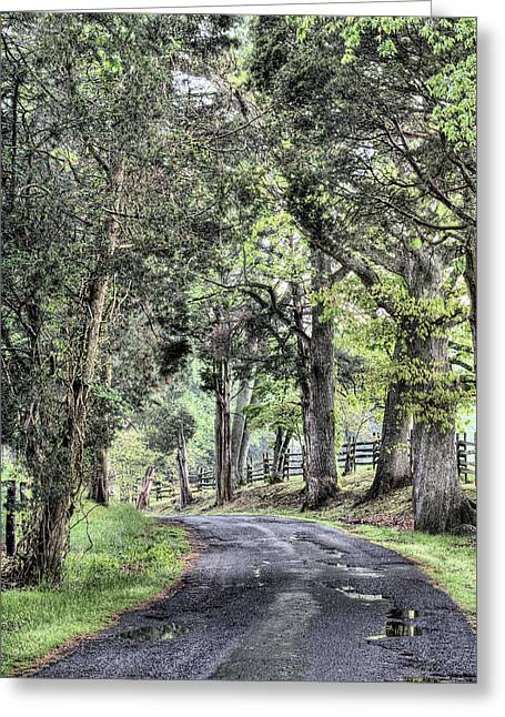 Fauquier County Greeting Cards - County Roads Greeting Card by JC Findley
