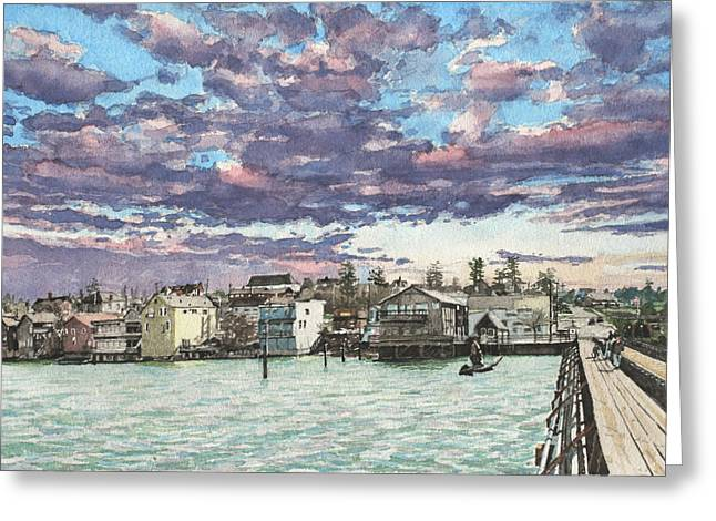 Penn Cove Greeting Cards - Coupeville Greeting Card by Perry Woodfin