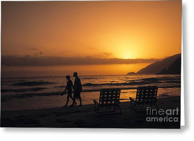 20-25 Years Greeting Cards - Couple At Beach Greeting Card by Juan  Silva