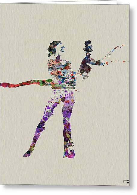 Couples Paintings Greeting Cards - Couple dancing Greeting Card by Naxart Studio