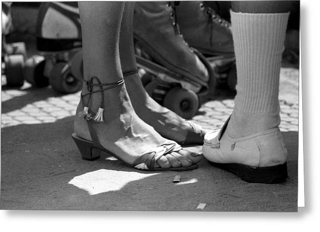 Low Heeled Shoes Greeting Cards - Couple Greeting Card by Emanuel Tanjala
