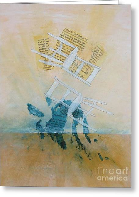 Chairs Mixed Media Greeting Cards - Couple Greeting Card by Paul OBrien