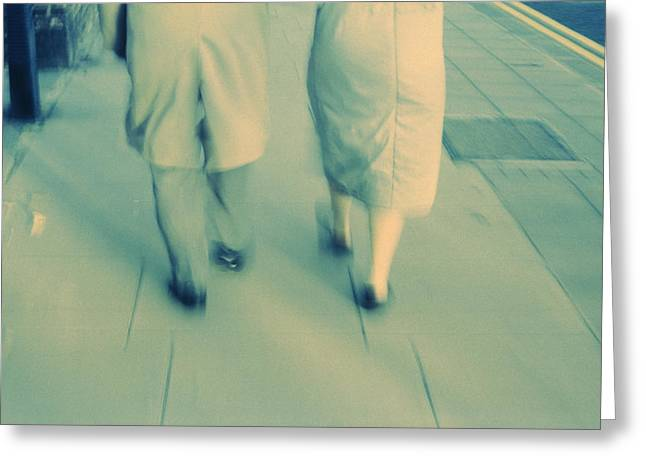 Interpersonal Greeting Cards - Couple Walking Greeting Card by Kevin Curtis