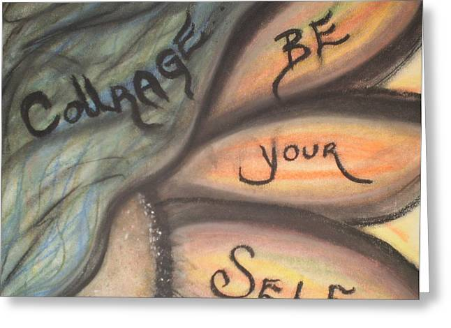 Courage Pastels Greeting Cards - Courage Greeting Card by Tracy Fallstrom