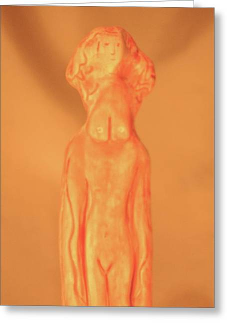 Virgin Sculptures Greeting Cards - Courageous Virgin Greeting Card by Kathryn New Gallo