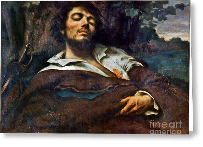 Self-portrait Photographs Greeting Cards - Courbet: Self-portrait Greeting Card by Granger