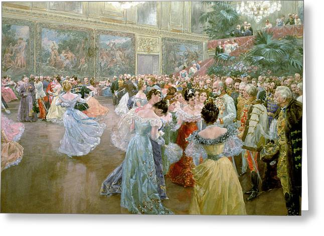 Ball Gown Greeting Cards - Court Ball at the Hofburg Greeting Card by Wilhelm Gause