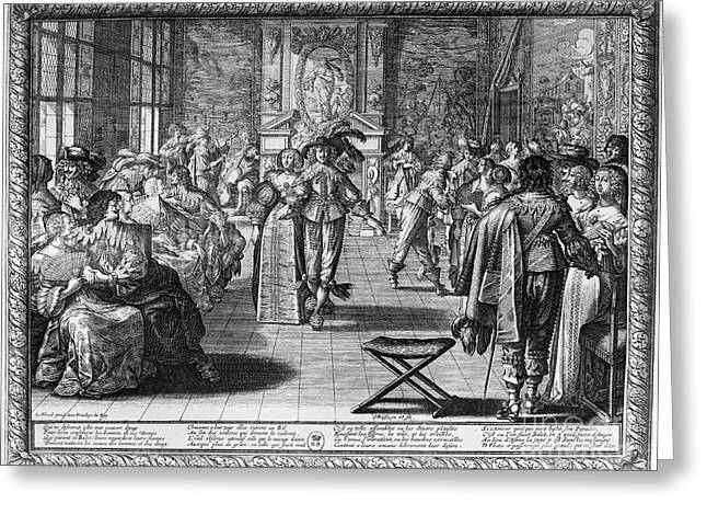 Palace Amusements Greeting Cards - COURT DANCE, c1660s Greeting Card by Granger