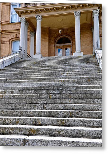 Equality Greeting Cards - Courthouse Steps Greeting Card by Brandon Bourdages
