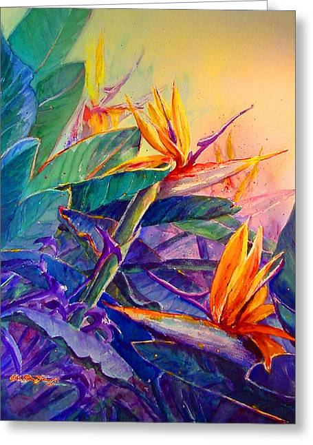 Reproducciones Tropicales Greeting Cards - Courtship  Greeting Card by Estela Robles