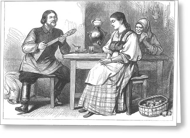 Chaperone Greeting Cards - Courtship In Russia, 1880 Greeting Card by Granger