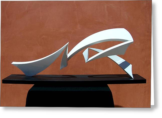 Abstract Movement Sculptures Greeting Cards - Courtship Of Amphitrite Greeting Card by John Neumann