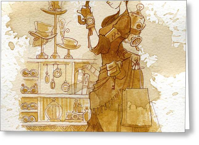 couture Greeting Card by Brian Kesinger