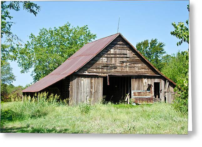 Cove Barn Greeting Card by Lisa Moore
