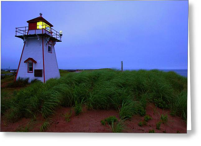 Princes Greeting Cards - Cove Head Lighthouse Greeting Card by Rick Berk