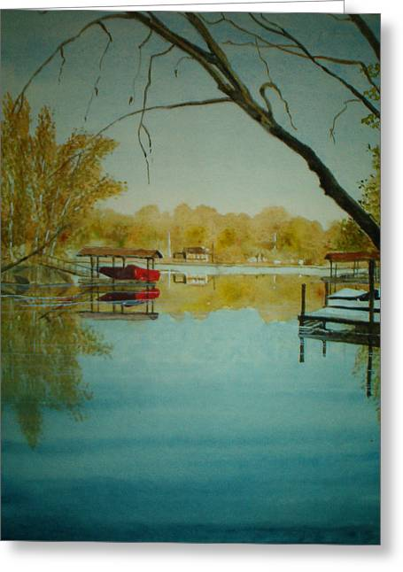 Lake Wylie Greeting Cards - Cove in Early Spring Greeting Card by Shirley Braithwaite Hunt