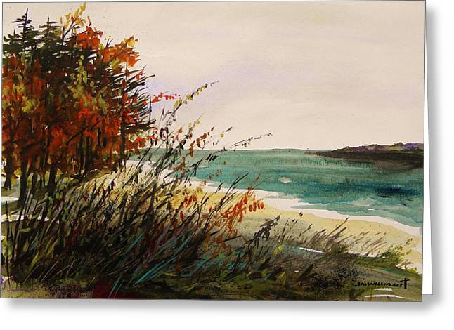 Jmwportfolio Drawings Greeting Cards - Cove on an Autumn Day Greeting Card by John  Williams