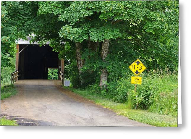 Best Sellers -  - Old Roadway Greeting Cards - Coverd Bridge Road Greeting Card by Ansel Price