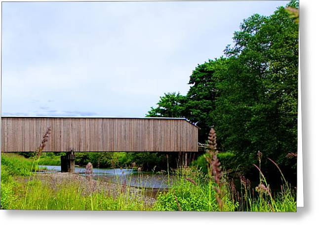 Best Sellers -  - Old Roadway Greeting Cards - Covered Bridge Greeting Card by Ansel Price