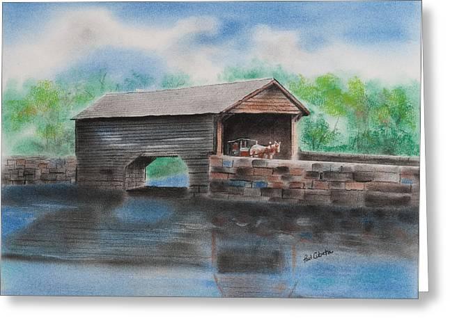 Covered Bridge Pastels Greeting Cards - Covered Bridge Bucks County Greeting Card by Paul Cubeta