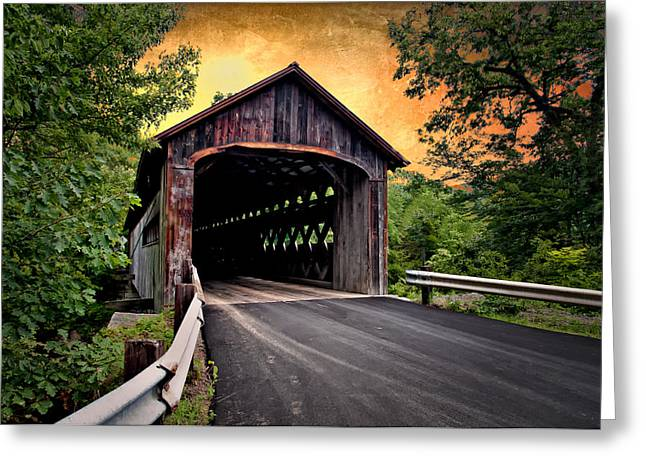Covered Bridge Greeting Cards - Covered Bridge Greeting Card by Fred LeBlanc