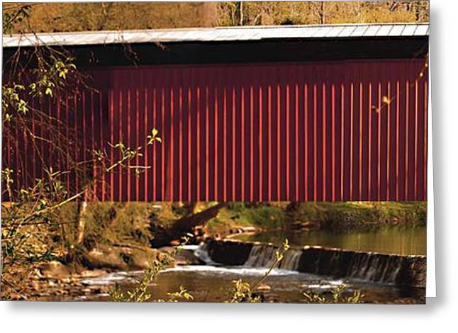 Covered Bridge Greeting Cards - Covered Bridge Greeting Card by Tom Gari Gallery-Three-Photography
